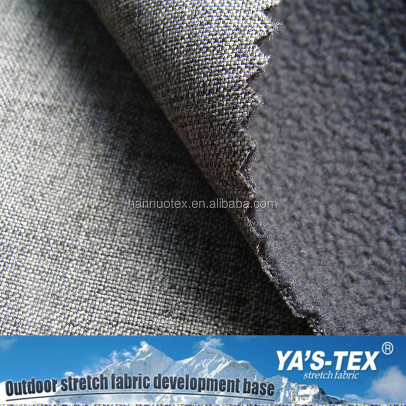 One Side Brushed Anti pilling polyester Spandex Polar Fleece Fabric Bonded Fleece Fabric