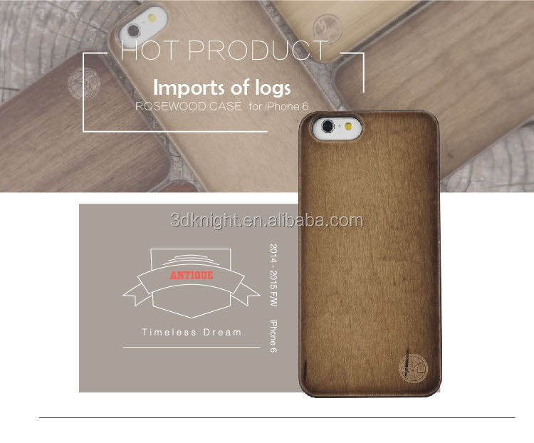 Wooden Bamboo Phone Case, Custom cheap wood phone case for iphone6 for iPhone 6 plus