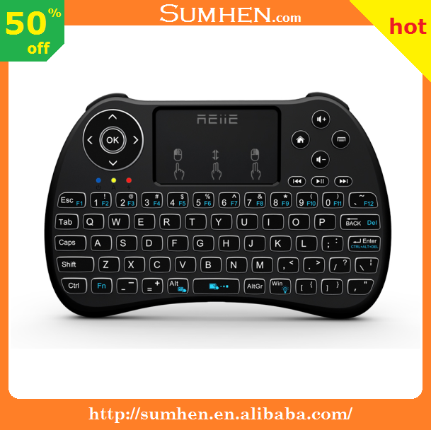 RII I9+ Mini Wirreless keyboard Touchpad Combo LED Backlit