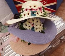 custom beautiful summer cheap wheat straw boater hat for children with high quality