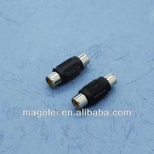 1 RCA to 1 RCA Female to Female Audio Connector Adapter