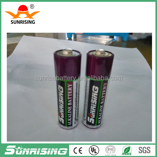 Long shelf life and discharge at 380mins AA LR6 am3 alkaline Battery 1.5V