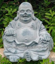FIBRE CLAY SEATING LAUGHING BUDDHA STATUE