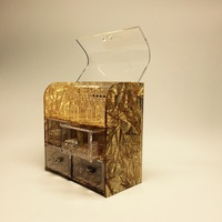 Acrylic Fabric Embbed Jewelry Box
