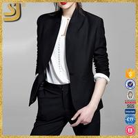 OL black womans long sleeve ladies formal office wear blazer
