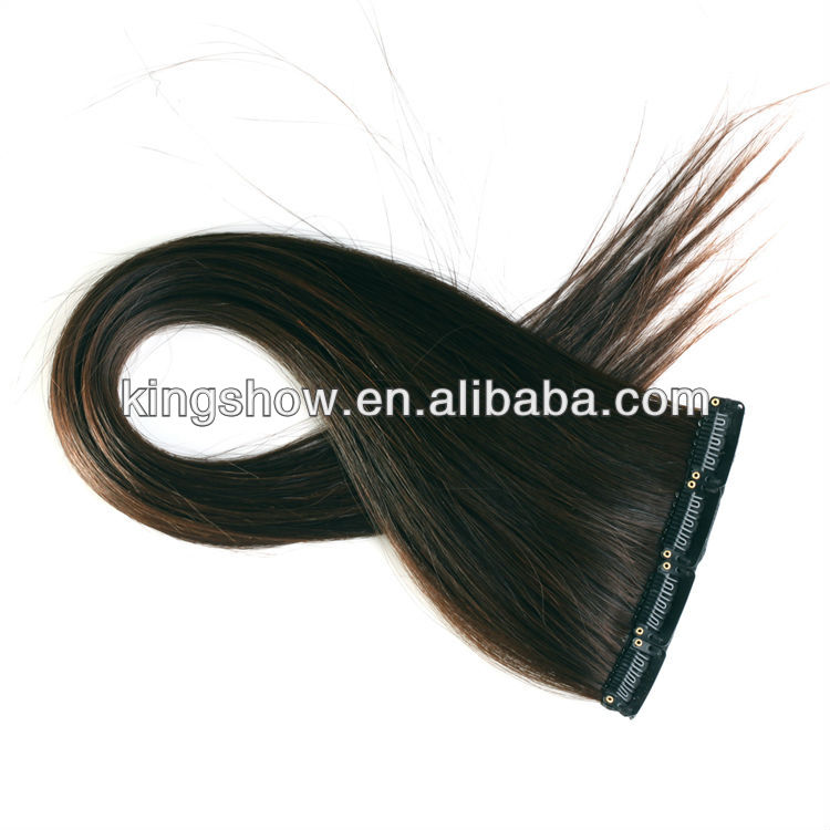 Yaki one piece clip in indian remy human hair extension