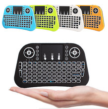 2017 colourful mini 2.4G wireless keyboard i10 Air mouse balcklit keybord mouse with touch pad