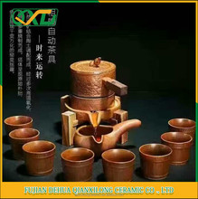 Chinese traditional clay DIY gongfu tea cup set customized logo printed drinkware set