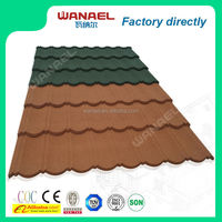 synthetic terracotta blue glazed corrugated metal 8 waves classical roof tile