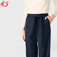 oem hot sale custom wholesale wide leg fashion high waist pants woman bodycon designs of trousers for lady