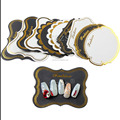 TSZS brand new arrival nail works show card paper display tool nail art display card