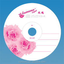 Best price blank cd-r 52X banana design cdr