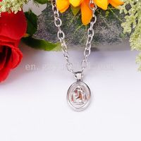 Fashion stainless steel necklace pendant for men and women 2015 Moneda Pendant Necklace magnetic pendants for necklaces