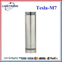 Best price tube 26650 battery Tesla M7 mod e-cigarette 510 delrin drip tip adapter
