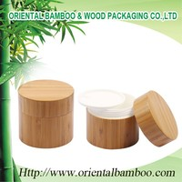 Overstock stylish brilliant bamboo cream jar for cosmetic