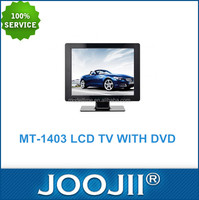 TV LED 14-15 inch design 2016+LED Flat Screen Television With DVD, USB/SD, Game,