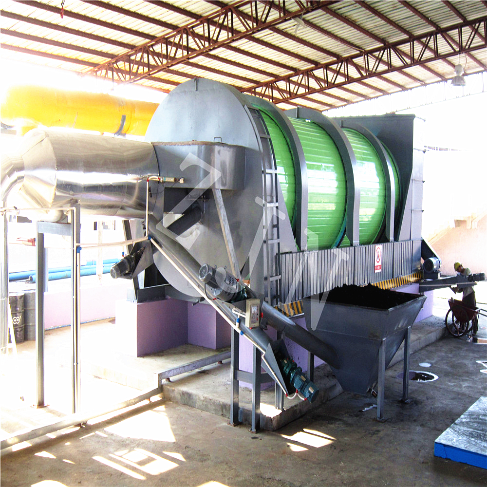 3 phase drying drum dryer granulator drying machine for waste management equipment