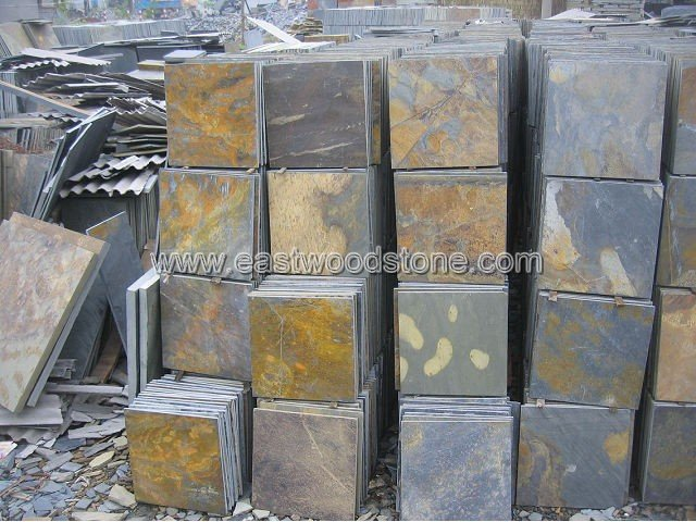 Chinese natural slate rusty slate paving