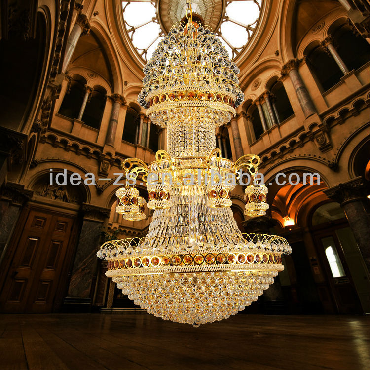 3 Tiers Luxury Design Crystal Vintage Chandelier Pendants Lighting Lamp