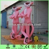 Giant pink inflatable cartoon characters for sale(panther,display, advertising)