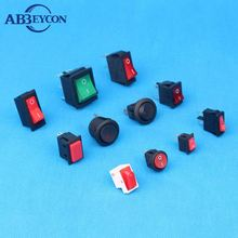 Oval ellipse illuminated 3 pin Rocker Switch for household appliance on-off dpst 4pin rocker switch