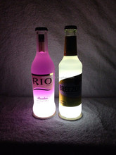 Promotional led bottle sticker for bar/night clubs