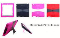 Wholesale Phone Cover Heavy Duty Kickstand Defender Combo Case for iPad 2 3