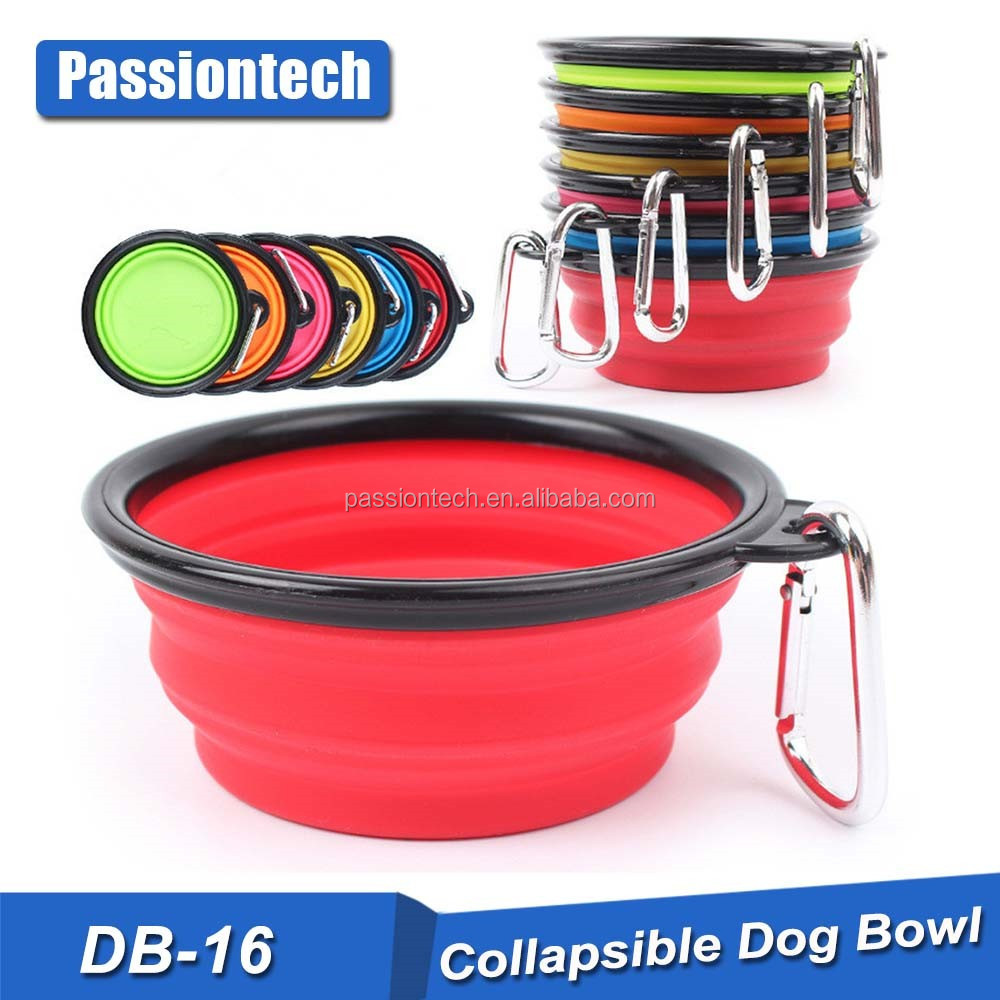 Portable Travel Bowls Collapsible Dog Bowl, Pet Cat Food Water Feeding Bowl