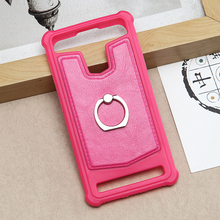 2017 New luxury design style universal marble leather phone case cover