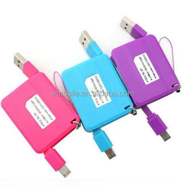 New Products 2016 Mobile Phones Accessories Fast Recharge USB to Micro Cable Retractable Data Transfer Cable