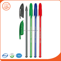 Lantu 2016 Cheap Price Colorful Plastic Ball Pens Ballpoint Pen With Cap
