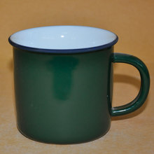 green full colour enamelware cup wholesale mugs for promotion gift