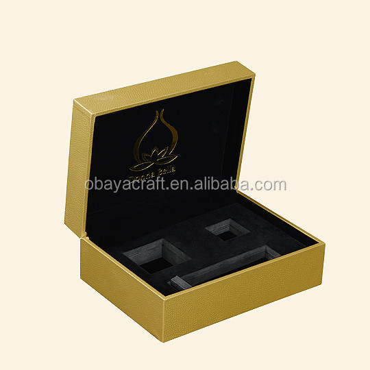 OEM Custom wholesale pu leather wooden perfume gift box