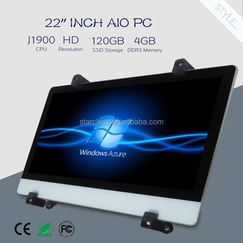 Best AIO 22 inch J1900 500G HDD / 120G SSD all in one computer with bracket operaticion i3 i5 i7