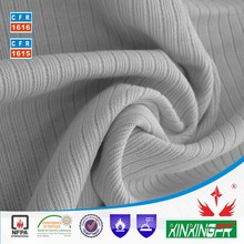 Modacrylic Cotton Blended Flame Retardant Knit Fabric for T-Shirt, Sweatshirt & Workwear