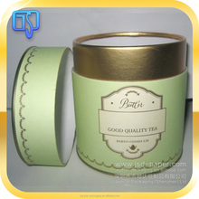 Unique tea packaging cylinder tea box round shape with custom logo hot stamping