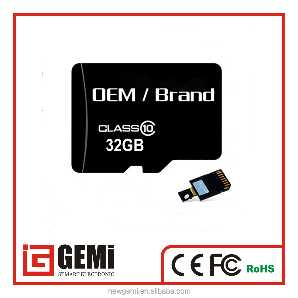 Factory wholesale price size memory card 2gb 4gb 8gb 16gb 32gb 64gb SD/TF memory card