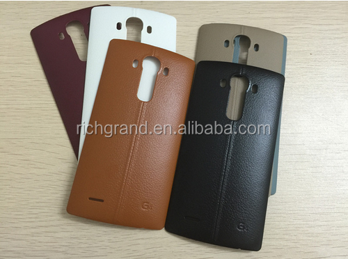 Back Rear Leather Battery Cover Door Case With NFC Chip Antenna Housing Replacement For LG G4