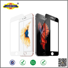 colorful full cover silicone edge tempered glass screen protector for iphone 6 / 6s