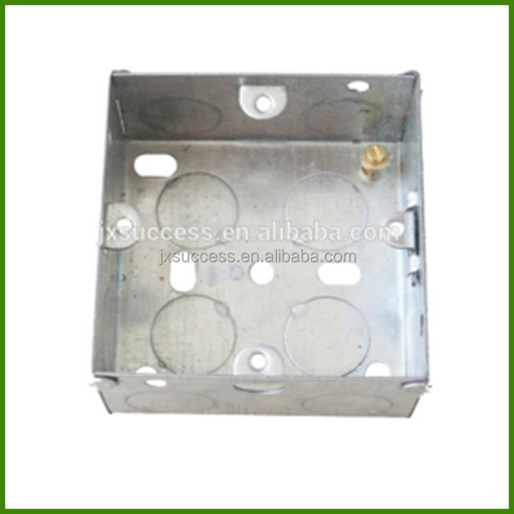 3*3 Inch BS 4662 Metal Switch Box With Brass Terminal