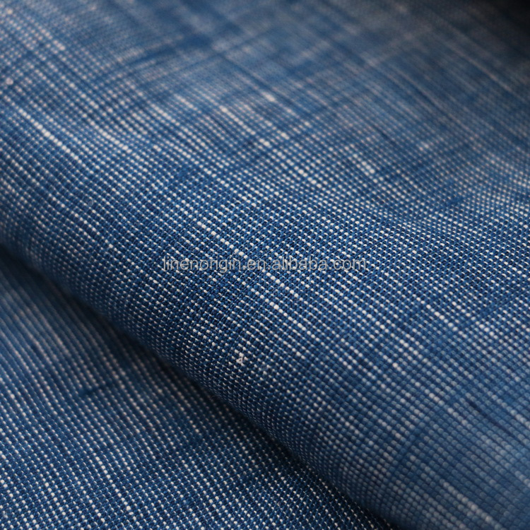 100% linen fabric yard dyed chambray for shirt