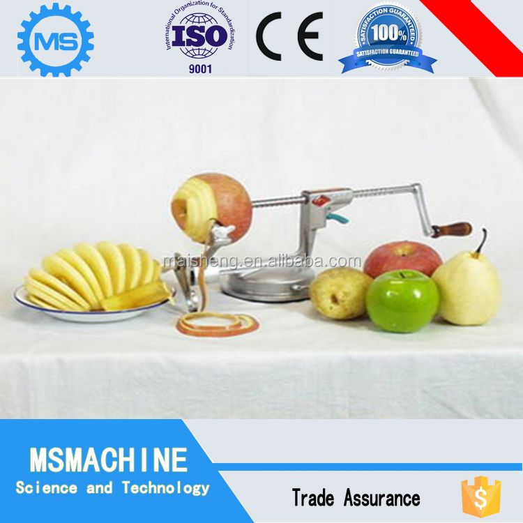 low price stainless steel apple peeling coring cutting machine