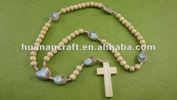 religious rosary crucifix cross statue keychain pendant wooden beads souvenir china tiger eye religious bracelet