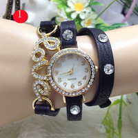 Women Jewlery Crystal Leather Latest Watch Design For Ladies China Supplier