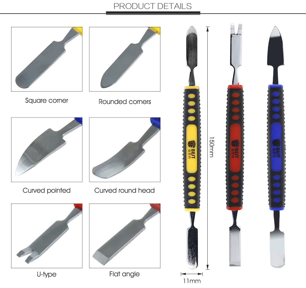 BST-119 Magnetic Precision Screwdriver Set Disassemble Repair Laptop Mobile Phone Tool Set with Tweezers Spudger Prying tool