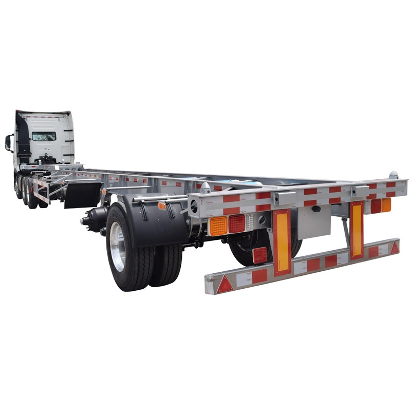 3axles 20ft 40 ft flatbed container semi trailer with factory price