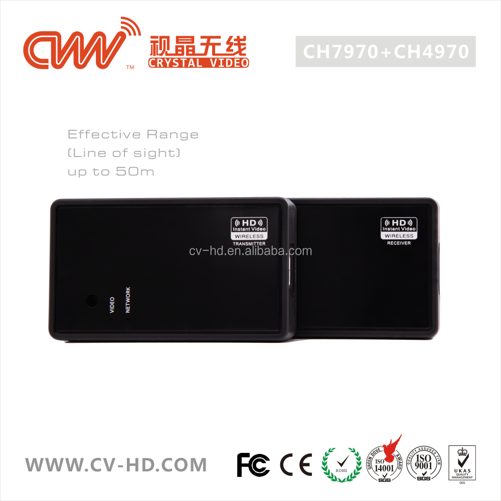 CVW CH7970/CH4970 5Ghz low latency wireless HDMI video transmission, 50M Full HD video transmission for TV and film cameras