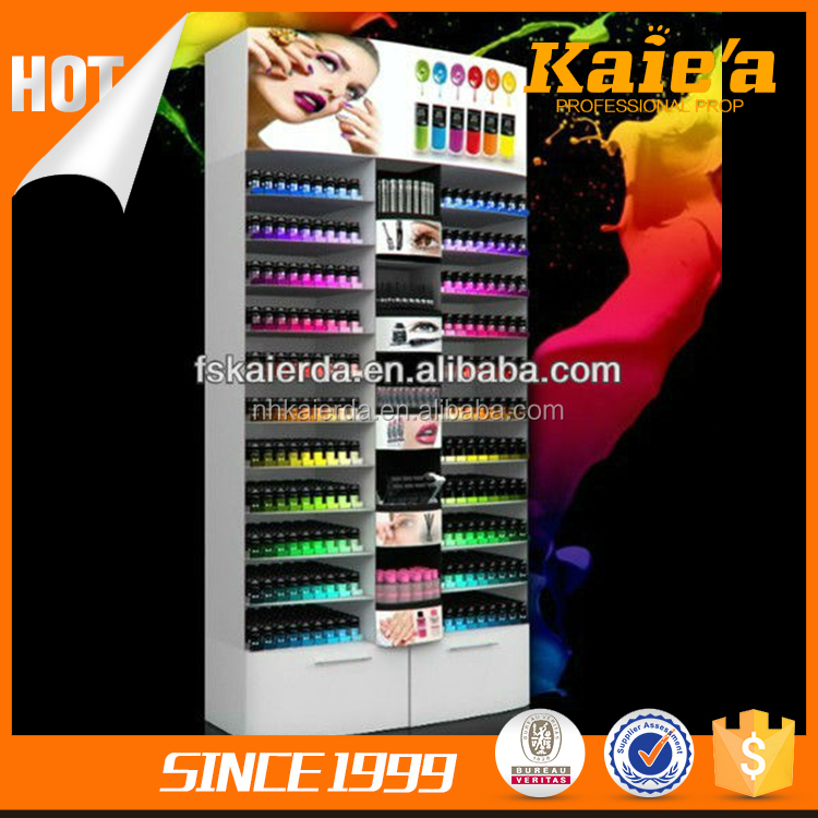 Cosmetic shop large nail polish display stand