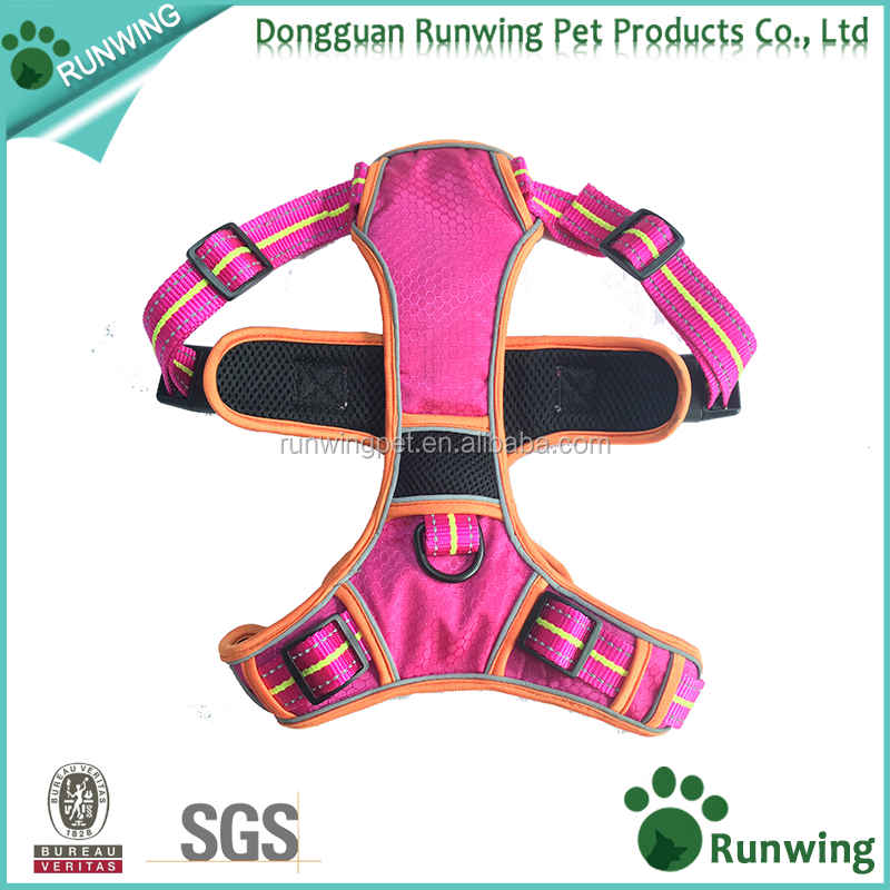 No Pull soft waterproof nylon reflective Dog Harness Adjustable