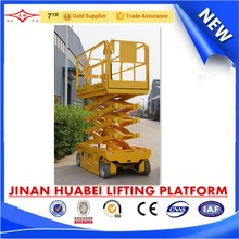 electric automatic self propelled telescopic machine with working platform and scissor lift